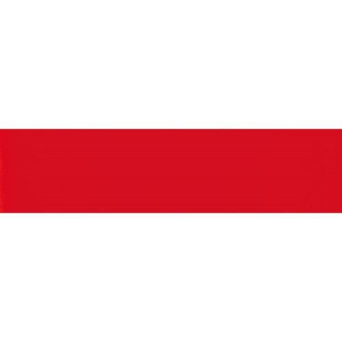 Carreau métro plat rouge brillant 10x30 cm -     - Echantillon - zoom