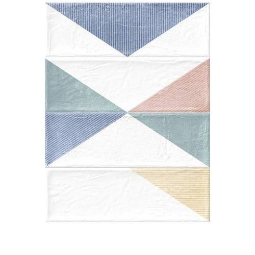 Faience murale triangles colorés BRICK DELTA MIX 11x33 cm -   - Echantillon GayaFores