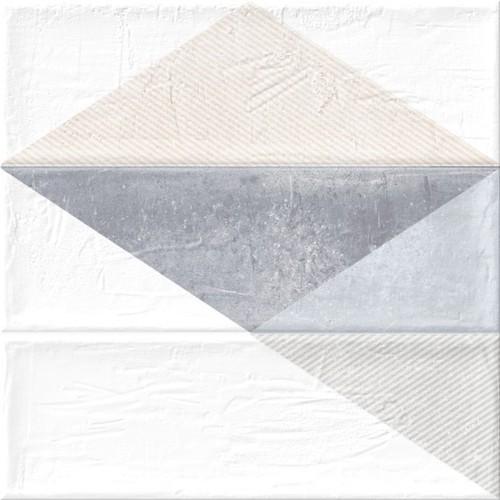 Faience murale triangles BRICK GREIGE 11x33 cm -   - Echantillon - zoom