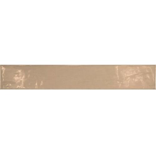 Carrelage uni brillant beige 6.5x40cm COUNTRY VISON 13252   - Echantillon - zoom