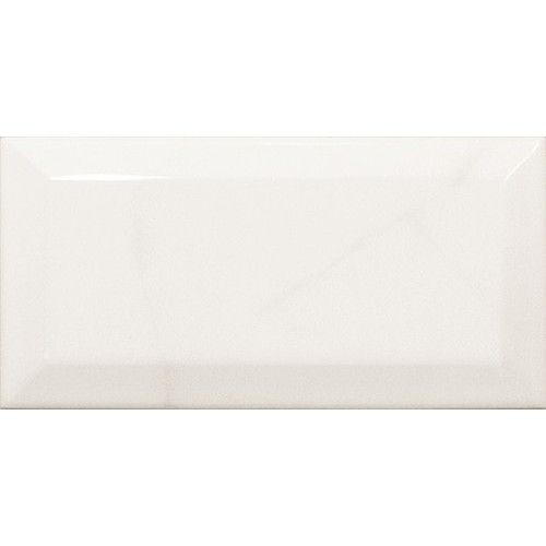 Carreau métro Blanc brillant marbré 7.5x15 cm CARRARA GLOSS  - Echantillon Equipe