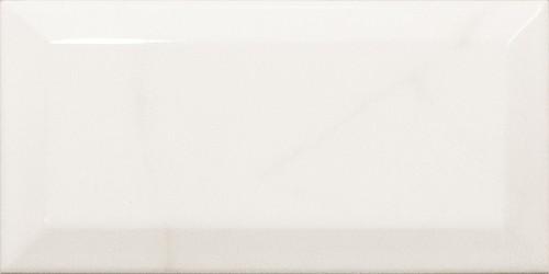 Carreau métro Blanc brillant marbré 7.5x15 cm CARRARA GLOSS  - Echantillon - zoom