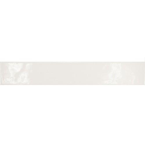 Carrelage uni brillant blanc 6.5x40cm COUNTRY BLANCO LONG 13250   - Echantillon Equipe