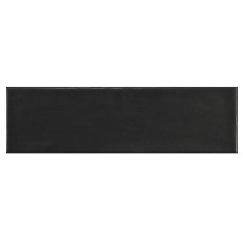 Carrelage uni mat noir anthracite 6.5x20cm COUNTRY ANTHRACITE MAT - 21553 0.  - Echantillon Equipe