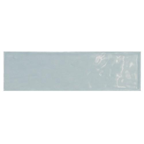 Carrelage uni brillant bleu 6.5x20cm COUNTRY ASH BLUE - 21541 0.  - Echantillon Equipe