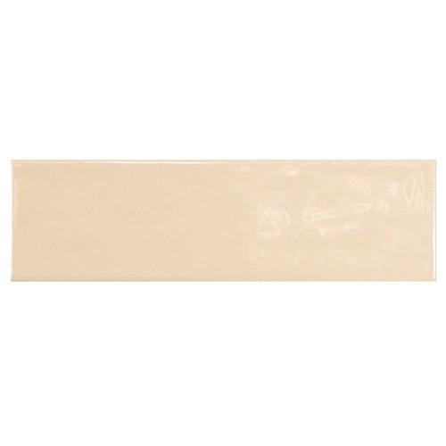 Carrelage uni brillant beige clair 6.5x20cm COUNTRY BEIGE 0.  - Echantillon - zoom