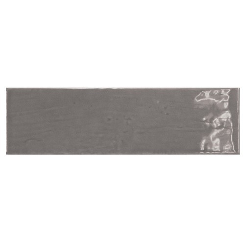 Carrelage uni brillant gris graphite 6.5x20cm COUNTRY GRAPHITE 0.  - Echantillon Equipe