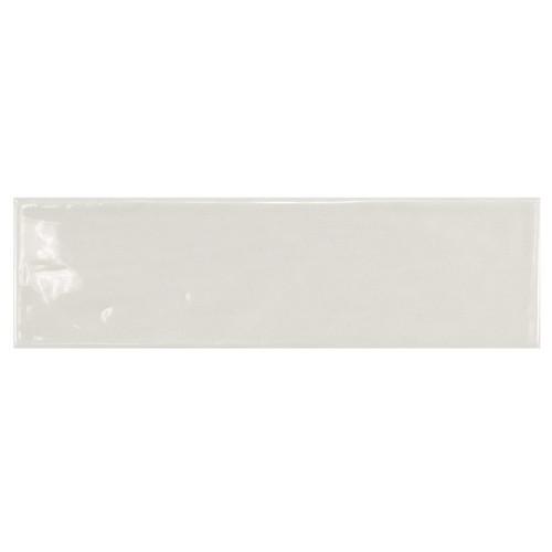 Carrelage uni brillant gris clair 6.5x20cm COUNTRY GRIS CLARO 21533 0.  - Echantillon Equipe