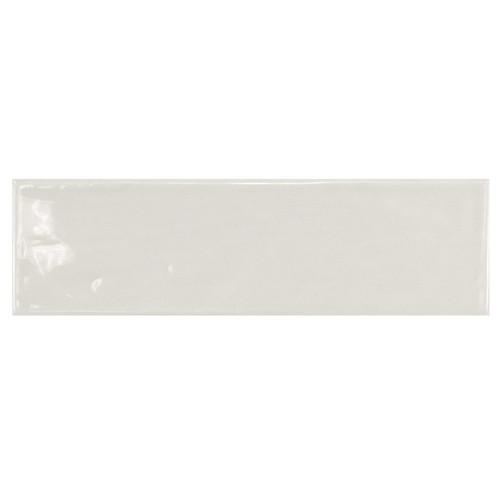 Carrelage uni brillant gris clair 6.5x20cm COUNTRY GRIS CLARO 21533 0.  - Echantillon - zoom