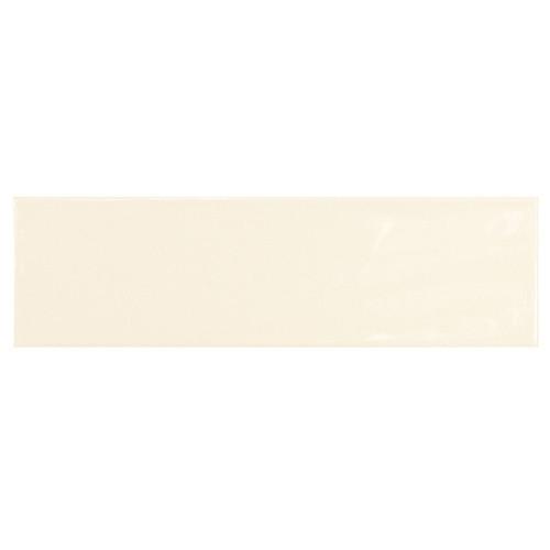 Carrelage uni brillant ivoire 6.5x20cm COUNTRY IVORY 0.  - Echantillon Equipe