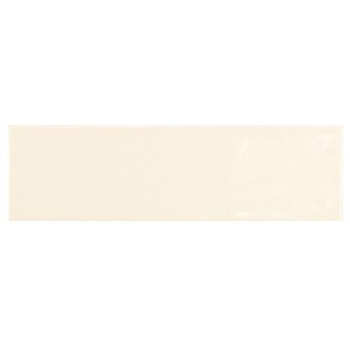 Carrelage uni brillant ivoire 6.5x20cm COUNTRY IVORY 0.  - Echantillon - zoom