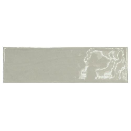 Carrelage uni brillant vert 6.5x20cm COUNTRY MIST GREEN 21540 - 0.  - Echantillon Equipe