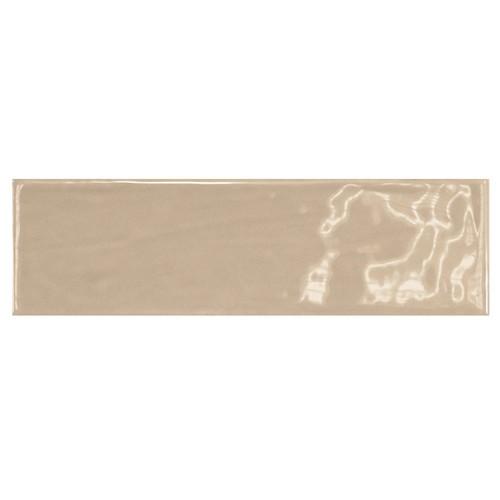 Carrelage uni brillant beige 6.5x20cm COUNTRY VISON 0.  - Echantillon Equipe