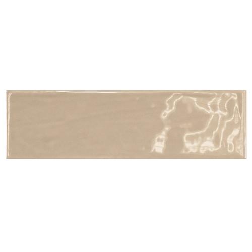 Carrelage uni brillant beige 6.5x20cm COUNTRY VISON 0.  - Echantillon - zoom