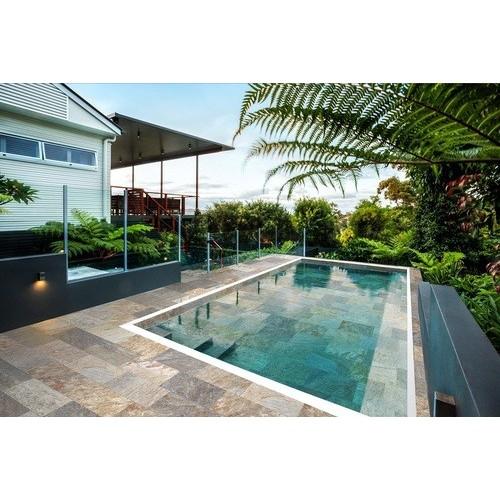 Carrelage piscine effet pierre naturelle SAHARA MIX 30x60 cm antidérapant R11 -   - Echantillon Savoia