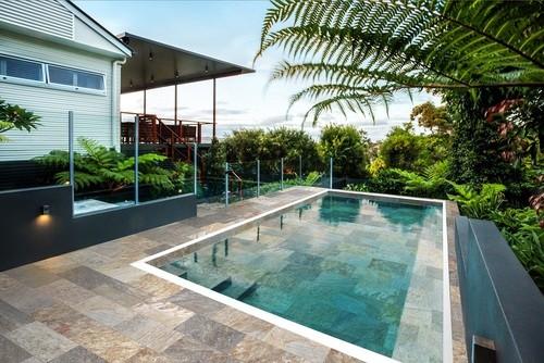 Carrelage piscine effet pierre naturelle SAHARA MIX 30x60 cm antidérapant R11 -   - Echantillon - zoom