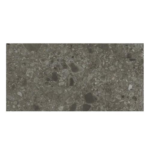 Carrelage satiné style pierre rectifié 40x80cm HANNOVER BLACK NATURAL R10 -   - Echantillon Baldocer