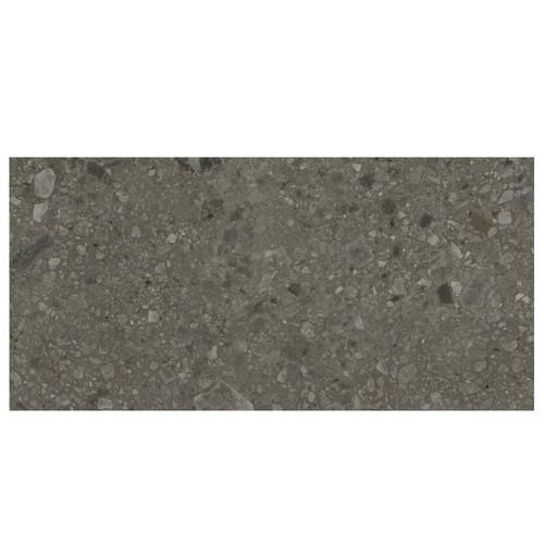Carrelage mat style pierre 60x120cm HANNOVER BLACK R10 -   - Echantillon - zoom