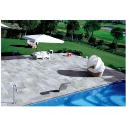 Carrelage piscine effet pierre naturelle QUARTZ SILVER 30.5x61.4 cm -  - Echantillon Coem ceramiche