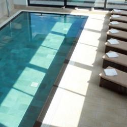 Carrelage piscine effet pierre naturelle QUARTZ GOLD 30.5x61.4.5 cm - 1 - Echantillon Coem ceramiche