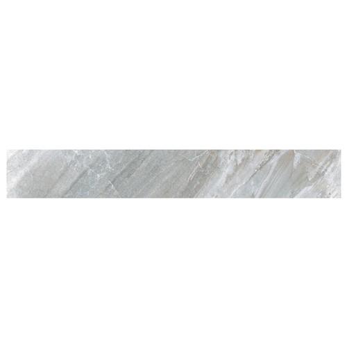 Carrelage moderne gris imitation pierre rectifié 15x120cm (14.3x119.3cm) GREYSTONE-R LEATHER -    - Echantillon - zoom