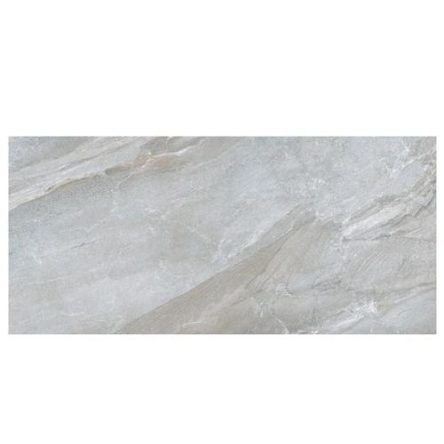 Carrelage moderne gris imitation pierre rectifié 60x120cm GREYSTONE-R LEATHER -    - Echantillon - zoom