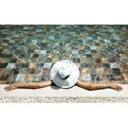 Carrelage piscine effet pierre naturelle PHOENIX SUN 14.8x14.8 cm -    - Echantillon Saime