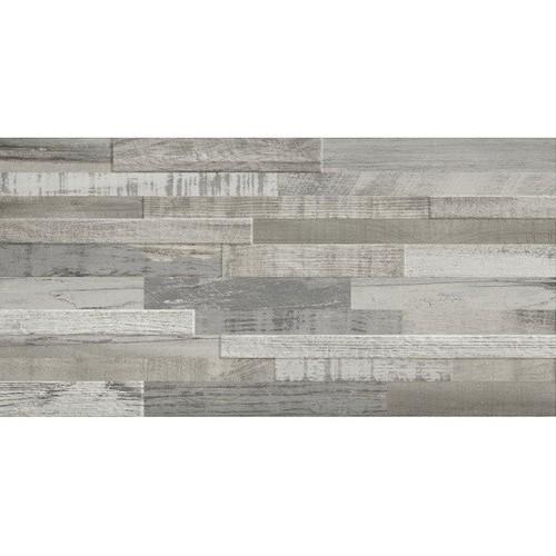 Carrelage imitation bois gris rect 30x60 DECK WISCONSIN WINTER MIX -   - Echantillon Baldocer