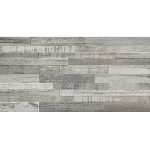 Carrelage imitation bois gris rect 30x60 DECK WISCONSIN WINTER MIX -   - Echantillon - zoom