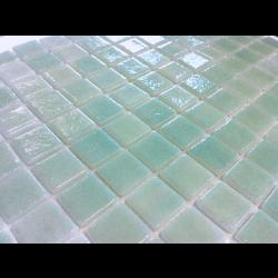 Mosaique piscine Nieve bleu vert caraibe 3057 31.6x31.6 cm -   - Echantillon AlttoGlass