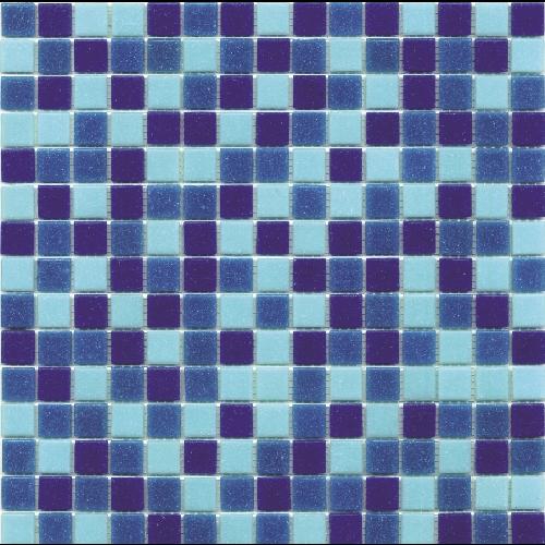 Mosaique piscine Mix de Bleu Deep Swimming 32.7x32.7 cm -   - Echantillon - zoom