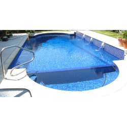 Mosaique piscine Mix de Bleu Deep Swimming 32.7x32.7 cm -   - Echantillon Ston