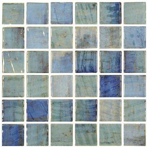 Mosaique piscine penta forest blue 2003568 3 x3  cm -    - Echantillon - zoom