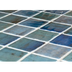 Mosaique piscine penta forest blue 2003568 3 x3  cm -    - Echantillon Onix
