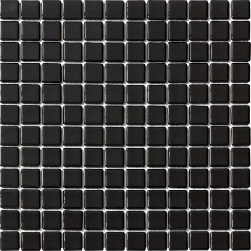 Mosaique piscine Lisa noir 2010 31.6x31.6 cm -   - Echantillon - zoom