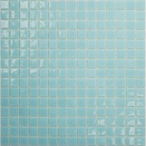 Mosaique piscine Bleu clair A30 20x20mm -   - Echantillon Ston