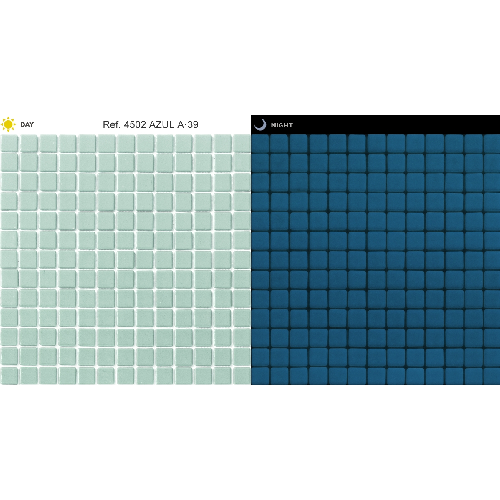 Mosaique piscine bleu phosphorescent 4502 31.6x31.6 cm -   - Echantillon - zoom