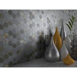 Mosaique mini tomette hexagonale grise 25x13mm SIXTIES GREY -   - Echantillon Togama