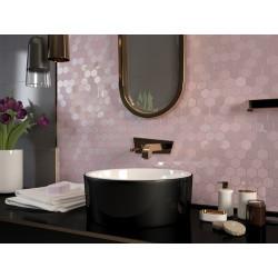 Mosaique mini tomette hexagonale rose 25x13mm SIXTIES PINK -   - Echantillon Togama