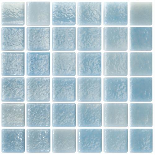 Mosaique bleu ciel 5x5 sur trame 3 x3  NIEBLA PISCINA A-10 -   - Echantillon - zoom