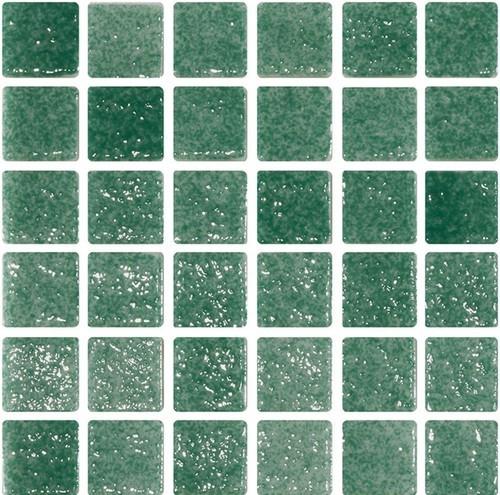 Mosaique verte 5x5 sur trame 3 x3  REF.503 A-11 -   - Echantillon - zoom
