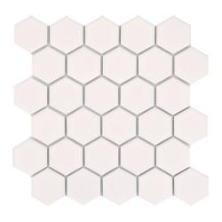 Mini tomette hexagonale blanche mat en grès cérame 27x  cm HEXAGONO BLANCO - unité - Echantillon ASDC