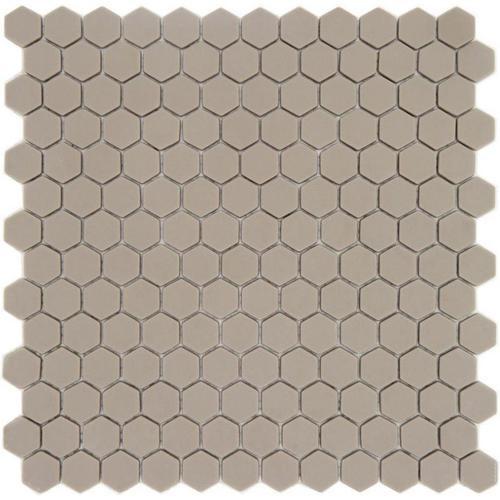Mosaique Mini tomette hexagonale JUTA23 25x13mm beige sable mat -    - Echantillon - zoom