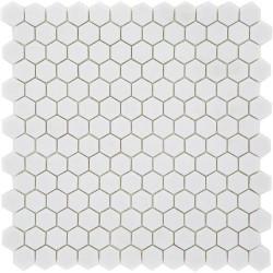 Mosaique Mini tomette hexagonale PURE23 25x13mm blanc mat -    - Echantillon Ston