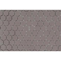 Mosaique Mini tomette hexagonale SADDLE23 25x13mm taupe mat -    - Echantillon Ston
