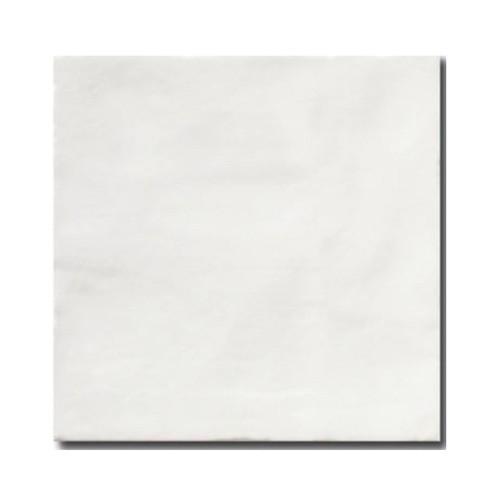 Faience rustique patinée BLANC 15x15 cm -   - Echantillon - zoom