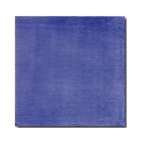 Faience rustique patinée BLEU MARINE 15x15 cm -   - Echantillon - zoom