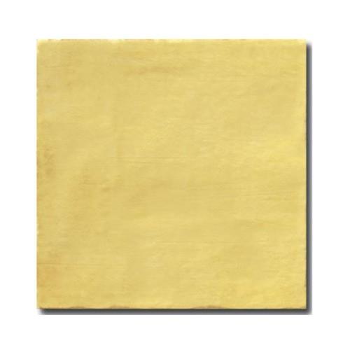 Faience rustique patinée OCRE 15x15 cm -   - Echantillon El Barco
