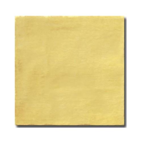 Faience rustique patinée OCRE 15x15 cm -   - Echantillon - zoom