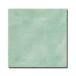 Faience rustique patinée TURQUOISE 15x15 cm -   - Echantillon El Barco